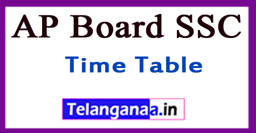 AP Board SSC Time Table 2019