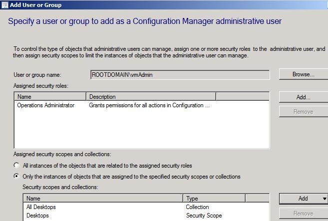 Ensuring Desktop Admins can't Touch Servers in SCCM 2012