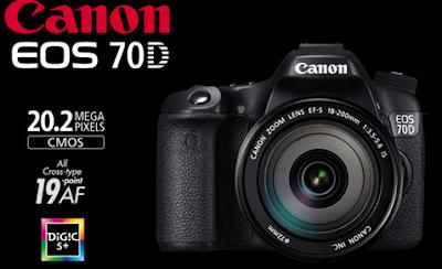Harga dan Spesifikasi Kamera Canon EOS 70D 2016