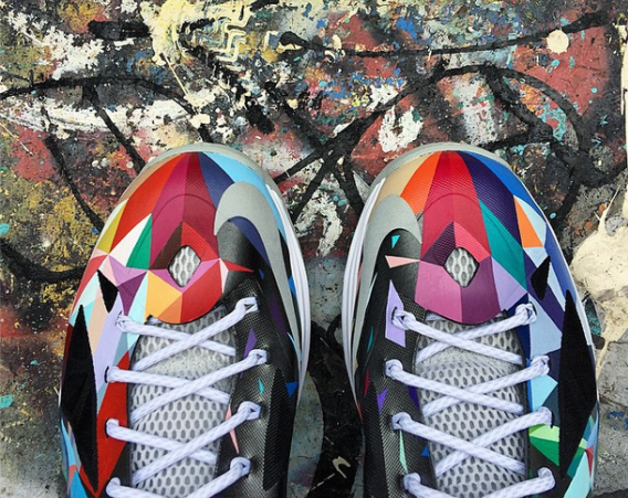 7691657aa4e Nike LeBron X Shattered Prism Customs by ROM