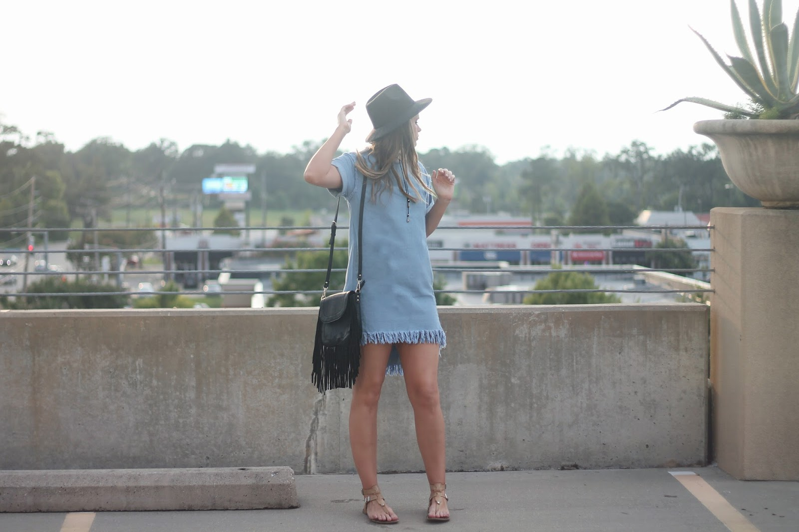 Boho Denim Fringe Dress + Shein.com Review
