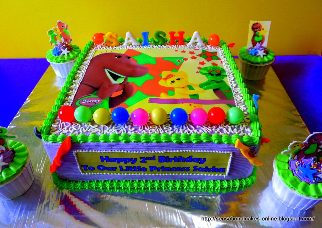 Cakes2Share Singapore 2D Barney and Friends Cake for Saisha BJ