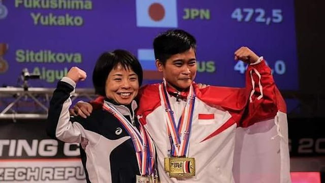 Widari Juga Raih Emas di Kejuaraan Dunia Angkat Berat