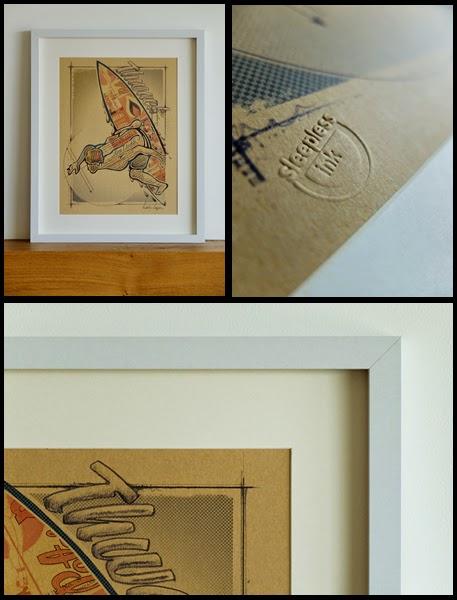 Vintage Surf, Surf Print, Surf Art, Retro Surf