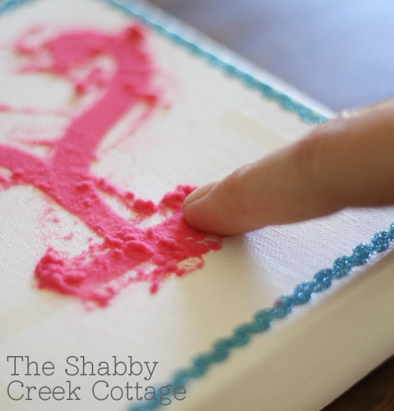 Make your own: Canvas Wall Art - The Shabby Creek Cottage