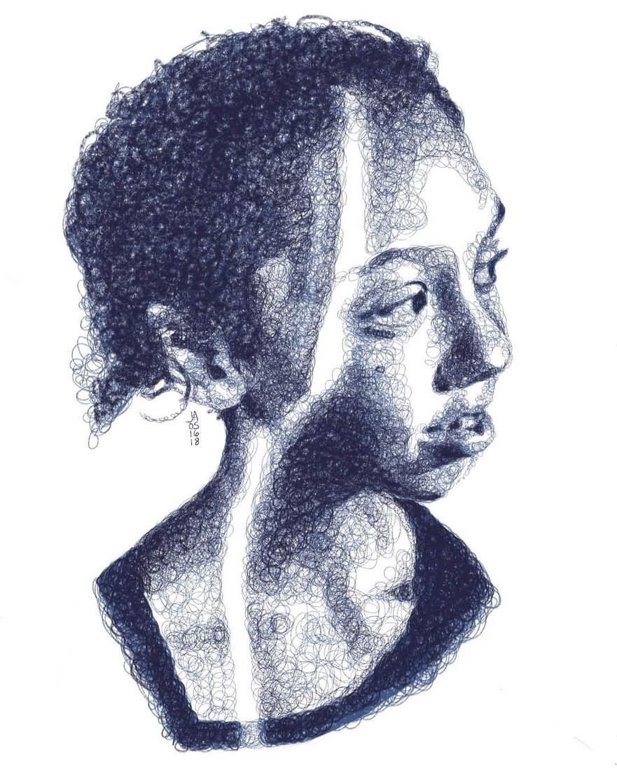11-Madelaine-Jennifer-Ackerman-Digital-Art-Scribble-Drawing-Portraits-www-designstack-co