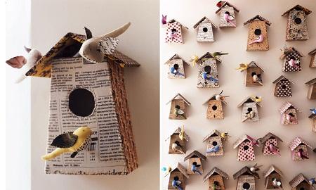 EcoNotas.com: Casas Recicladas para Aves, Formas de ...