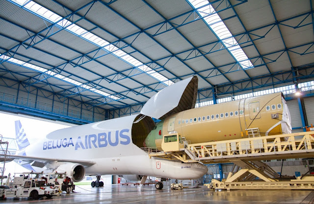Airbus A300-600ST Beluga Carries A350