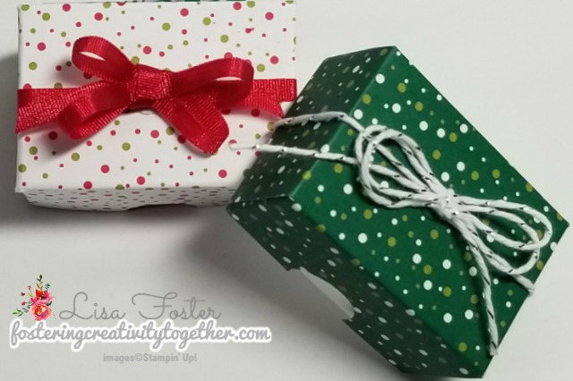 #treatbox #giftbox #christmas #underthemistletoe #stampinup #lisafoster