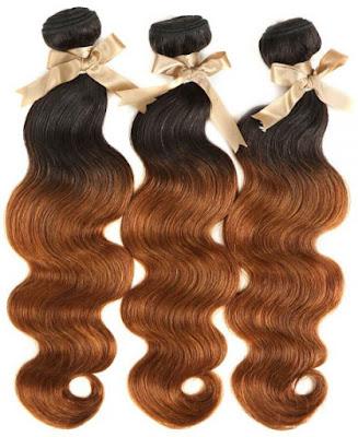 REMY HAIR丨OMBRE 3 BUNDLES BODY WAVE 丨T1B/30