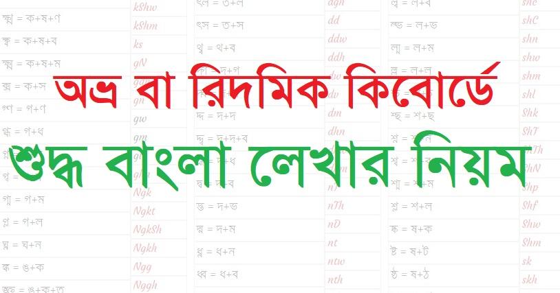 Typing Tutorial Bangla How to write Bangla in Avro / Ridmik Keyboard | বাংলায় যুক্তবর্ন ও অন্যান্য বর্ণ লেখার সমাধান