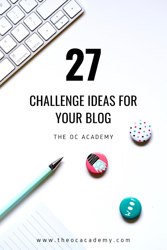 27 Challenge Ideas