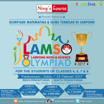 Lomba Olimpiade LAMSO 2017 Untuk SD Dan SMP