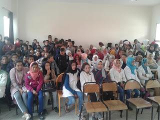 نادي الإبداع والتميز بالثانوية الاعدادية سيدي بنحمدون بالمديرية الاقليمية برشيد ينظم نشاطا تربويا