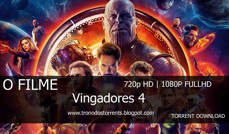 [ Torrent Filme ]  Download - Vingadores 4 - O filme– 720p   1080p Dual Áudio 5.1 , trono dos torrents , filmes torrents, baixar filmes, baixar filmes em torrent