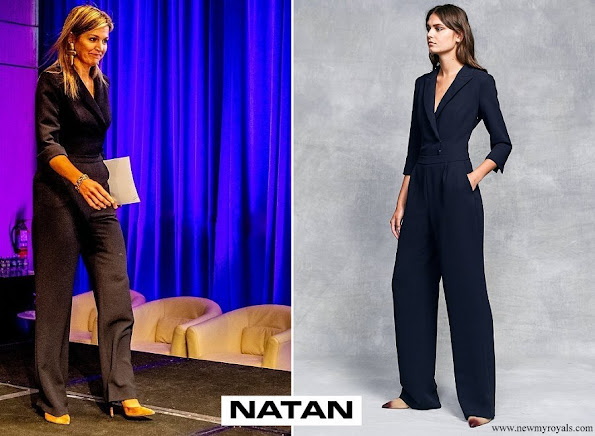 Queen Maxima wore Natan Crepe Jumpsuit