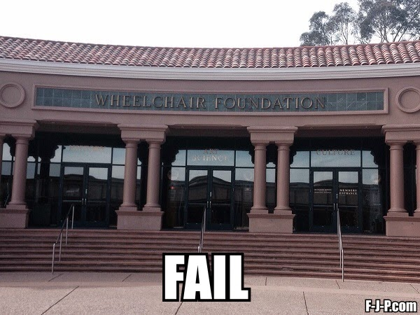 Funny Wheelchair Foundation Access Fail Joke Picture