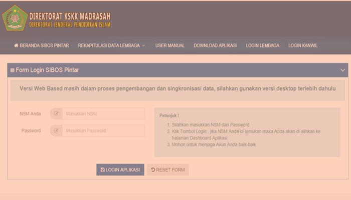 Tutorial Aplikasi SIBOS Pintar Kemenag Online Format PDF
