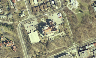 Orthophoto imagery of Casa Loma