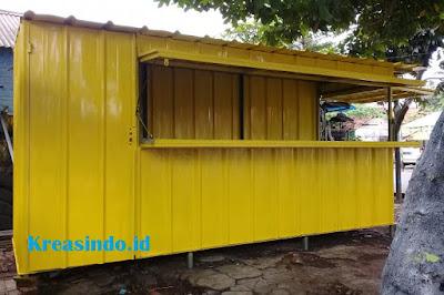 Gerobak Booth Besi Semi Kontainer