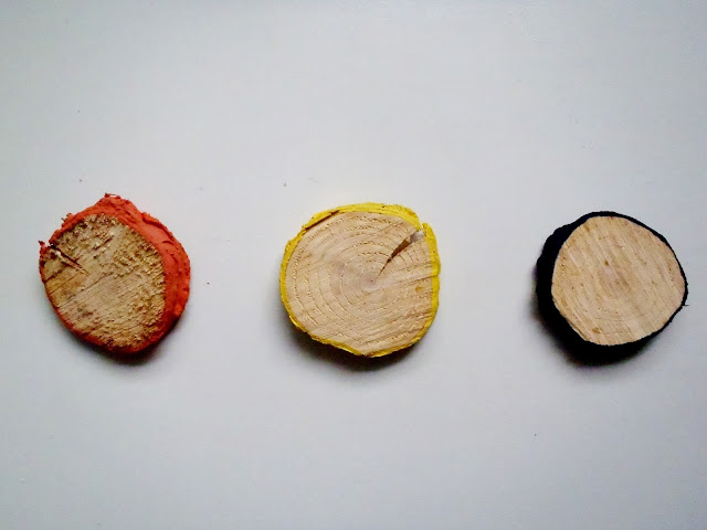 hand painted tree rings diy