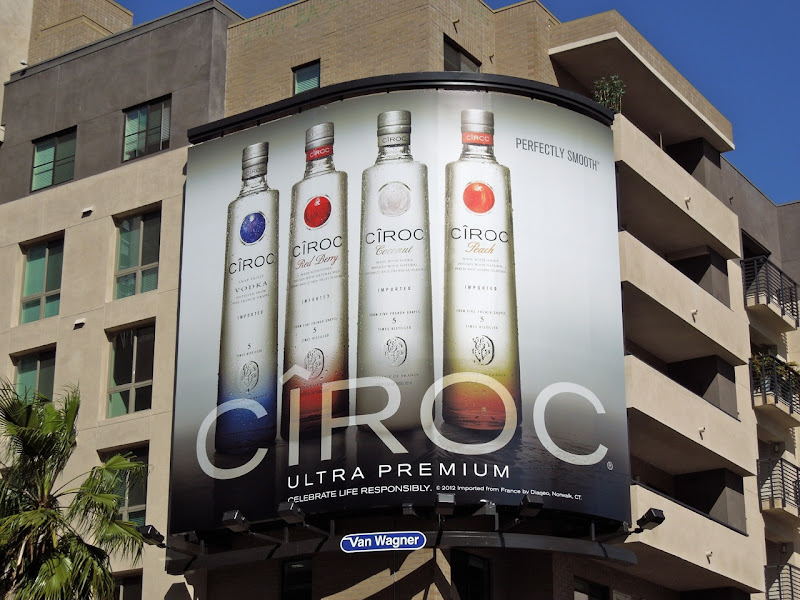Ciroc ultra premium vodka billboard