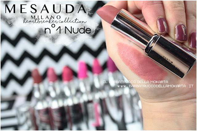 swatches 01 Nude opinioni heartbreaker lipstick rossetto matt , matt lipstick mesauda