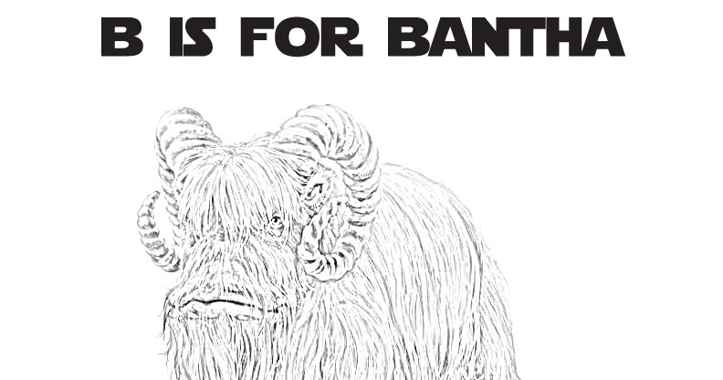 Star Wars Alphabet Coloring Page