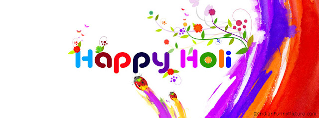 Happy Holi Photos for Facebook Timeline Cover