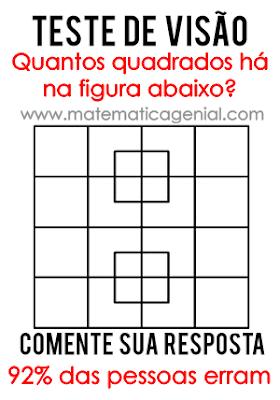 Desafio - Quantos quadrados há na figura?