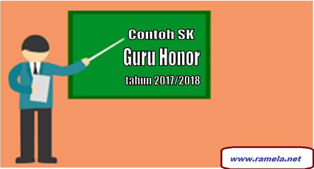 Contoh Terbaru  SK Pengangkatan Guru Honorer 2017/2018