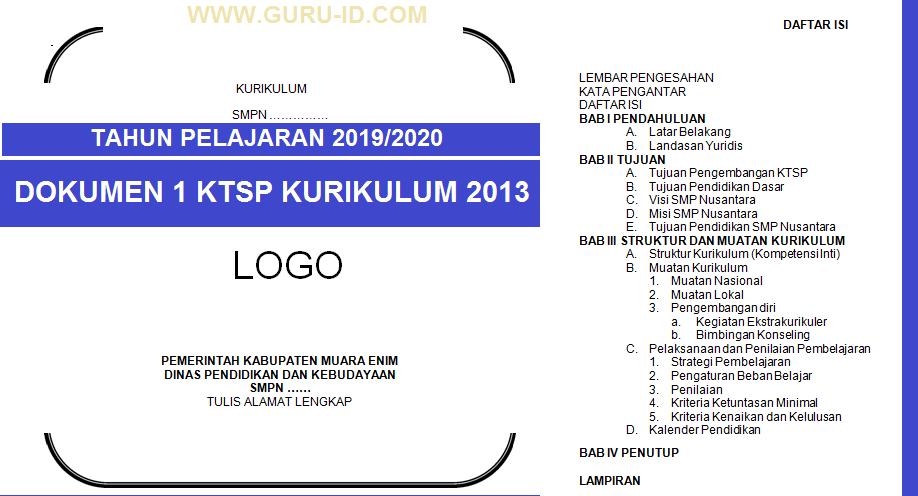 Dokumen 1 Kurikulum 2013 Tahun 2019 2020 Format Doc Untuk Sd Smp Sma Smk Info Pendidikan Terbaru
