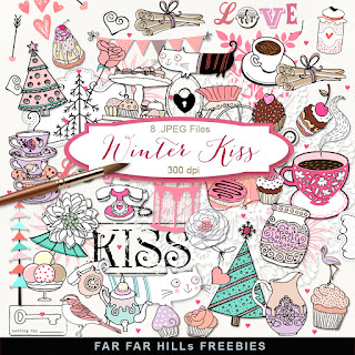 New Freebies Kit of Scrap Clip-Art -Winter Kiss