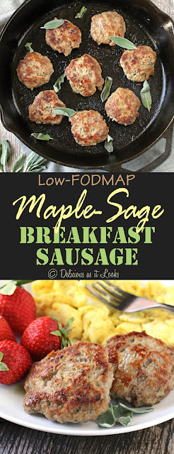Low-FODMAP Maple-Sage Breakfast Sausage  /  Delicious as it Looks