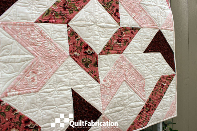 Joy quilt side view