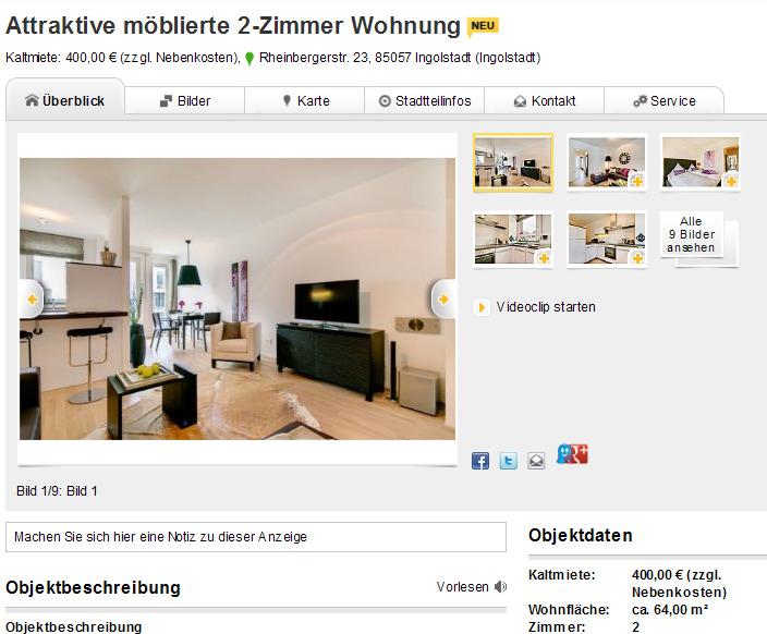 attraktive m blierte 2 zimmer. Black Bedroom Furniture Sets. Home Design Ideas