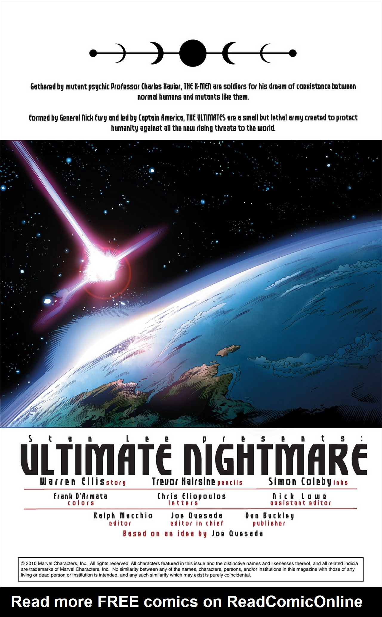 Read online Ultimate Nightmare comic -  Issue #1 - 2