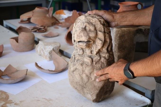 Άγαλμα λιονταριού  βρέθηκε στην αρχαία ελληνική πόλη της Άσσου