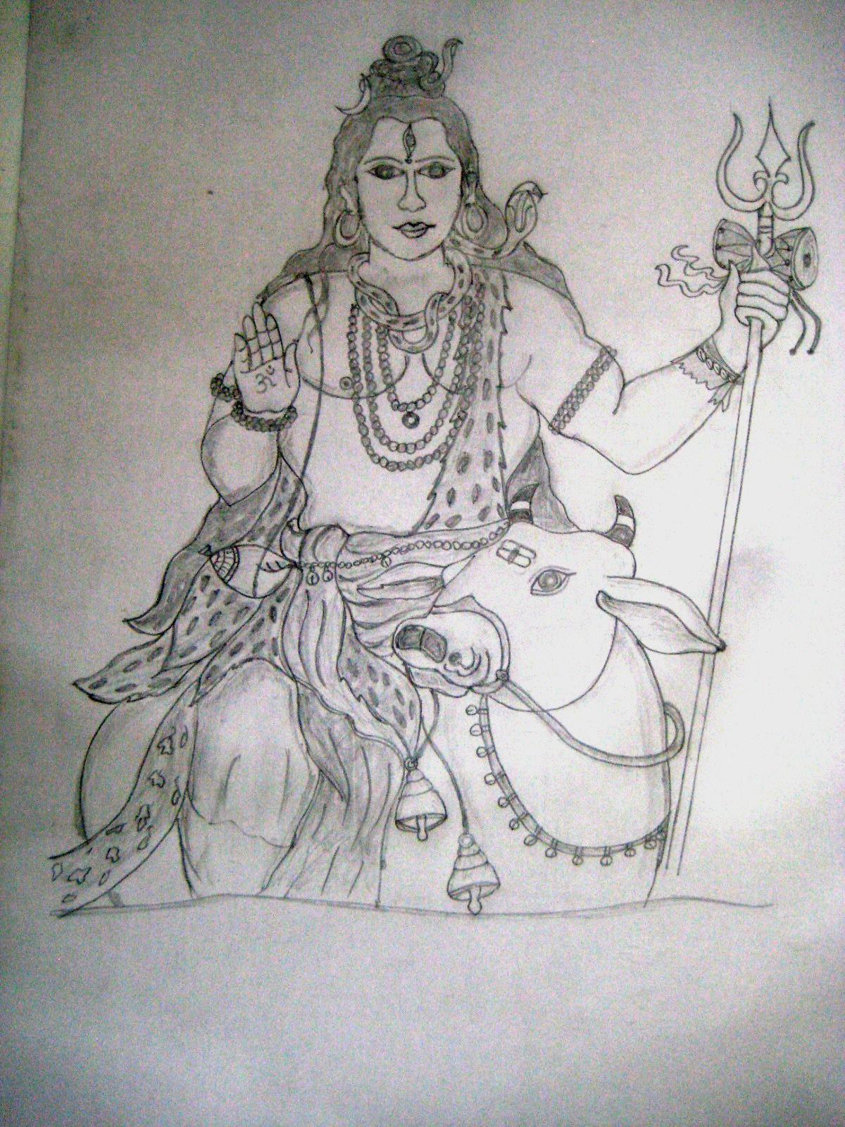 Lord shiva in nandhi