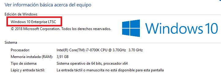 Windows 10 LTSC Enterprise 2019: ¿Qué es? | SYSADMIT