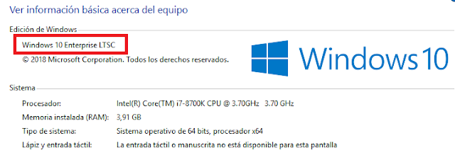 Windows 10 LTSC Enterprise 2019