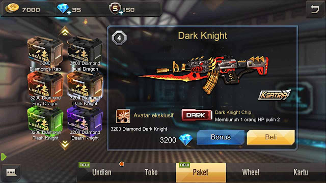 kode senjata dark knight crisis action
