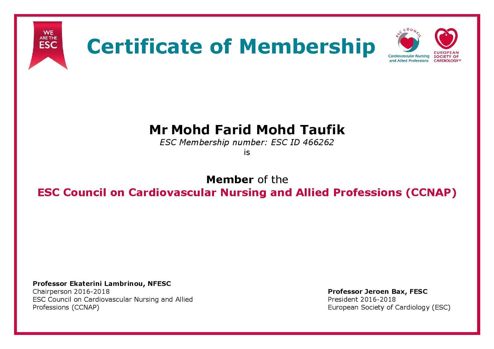 Cvt Mohd Farid My European Society Of Cardiology Sub Society 2017