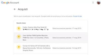 Google registra acquisti