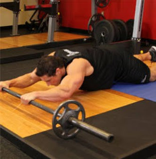 Barbell rollout exercises