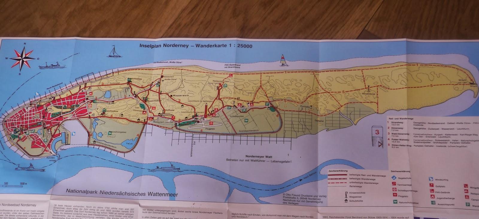 Norderney Karte Straßen.Reise Blog Heike