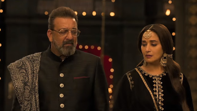Sanjay Dutt and Madhuri Dixit in a still from Kalank's teaser