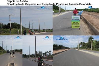 Instalações de postes de iluminação na Av. Bela Vista em Chapadinha