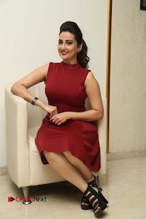 Telugu Tollywood Anchor Manjusha Pos in Red Short Dress  0124.JPG