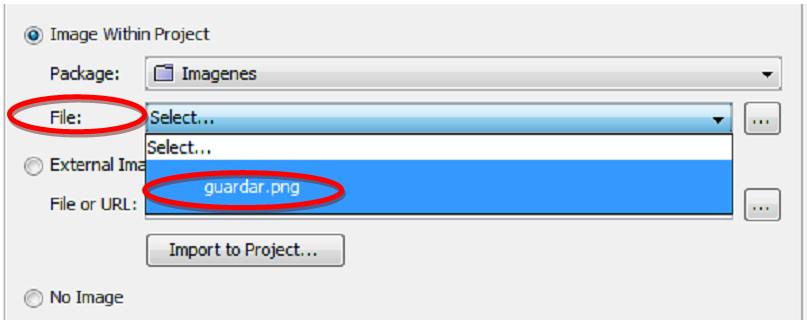 seleccionar imagen a asignar al componente jbutton